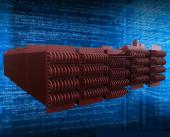 生产中的600MW发电机组H型鳍片管低温省煤器