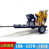 山东鲁探XYX-130型轮式打井机  农村打井移动方便